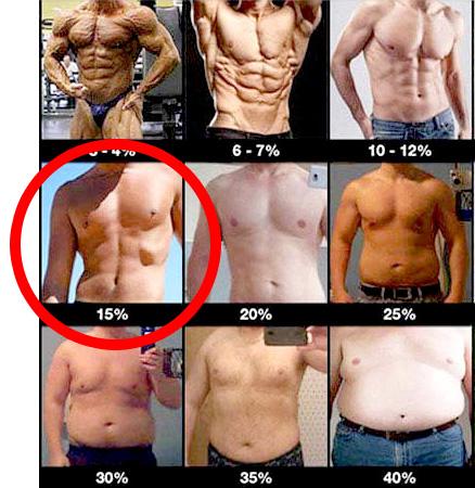 体脂肪一覧表
